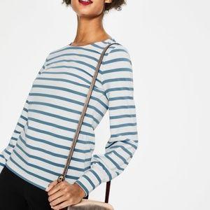 Boden Lena Breton Stripe Light Weight Sweater